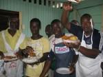Men Cook Dinner After Workshop